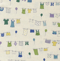 japanese drawing of clothes on line blues
