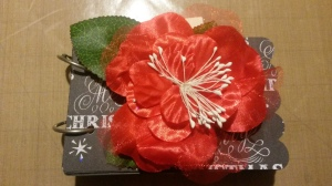 Mini Christmas Album Red Flower 007