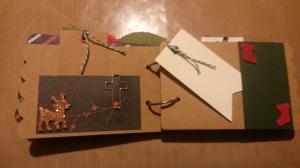 Mini Christmas Album Red Flower 020